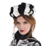 Headband Black & Bone Floral One Size
