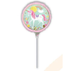 "9"" ""Magical Unicorn"" Foil Balloon Round, A15, bulk, 23cm"