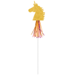 6 Wands Magical Unicorn Paper With Foil Fringe