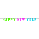 Letter Banner Happy New Year  Foil 274 x 17.7 cm