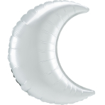SuperShape White Satin Crescent Foil Balloon P30 Bulk