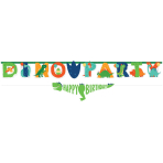 Jumbo Letter Banner with Mini Banner Dino-Mite Paper Personalizable 230 cm