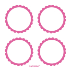 5 Sheets of Labels Bright Pink5.1 cm
