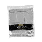Table Skirt Silver Plastic 426 x 73 cm