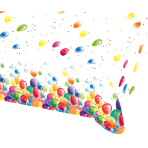 Tablecover Balloons Plastic 120 x 180 cm