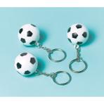 12 Key Chains Championship Soccer Plastic 2.8 x 2.8 cm