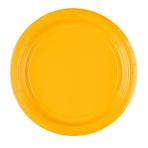 20 Plates Sunshine Yellow Paper Round 22.8 cm