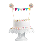 Cake Decoration Pennant Banner My Birthday Party 15 x 20 cm