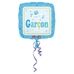 Standard Welcome c'est un garçon Foil Balloon S40 Packaged 43 cm
