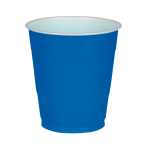 50 Cups Bright Blue Blue Plastic 473 ml