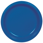 10 Plates Plastic Bright Royal Blue 17.7cm