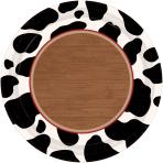 8 Plates Western Paper Round 26.7 cm