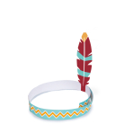 4 Hairbands Tepee & Tomahawk Paper 60.7 x 20.6 cm
