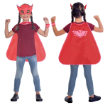 Child Costume PJ Masks Owlette Cape Set Age 4 - 8 Years