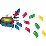 4 Confetti Frisbee 2 x 6,5 cm