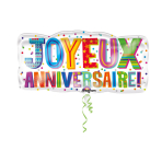 SuperShape Joyeux AnniversaireFoil Balloon P35 Packaged 83  x 40 cm