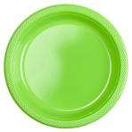 10 Plates Kiwi Plastic Round 22.8 cm