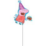 "Mini Shape ""Peppa Pig"" Foil Balloon, A30, airfilled, 25 x 33 cm"