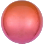 Ombré Orbz Red & Orange Foil Balloon G20 packaged