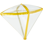 Diamondz Gold Trim Foil Balloon G20 Bulk 38cm x 43cm