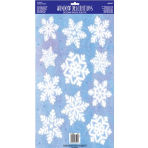 Window Decoration Kit Snowflakes Vinyl 11 Pieces 43.1 x 30.5 cm