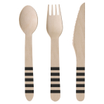 Cutlery Kicker Party Wood (8 Knives, 8 Spoons, 8 Forks) 16.5 cm / 15.9 cm / 15.8 cm
