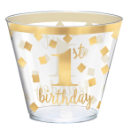 30 Cups 1st Birthday Plastic 266 ml