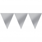 Pennant Banner Silver Paper 457 x 17.7 cm