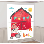 Photo Booth Kit Barnyard Birthday Paper / Plastic 16 Pieces 70 x 101 cm / 25 x 35 cm