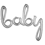 Script Phrase `Baby` Silver