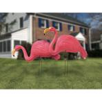 2 Garden Stakes Flamingo      Plastic 54 x 43 cm