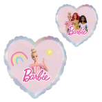 Standard Barbie Heart Foil Balloon Round S60 Packaged 43 cm