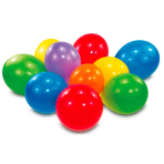 30 Latex Balloons Standard Assorted 18cm/7""