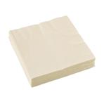 20 Napkins Vanilla Creme 33 x 33 cm