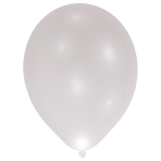 5 Latex Balloons LED Silver 27.5 cm / 11""
