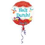 Standard Halt durch Foil Balloon round S40 packed 43 cm