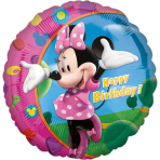 Standard Minnie Happy Birthday Foil Balloon S60 Packaged