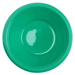 20 Bowls Festive Green Plastic 355 ml