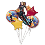 Bouquet Captain Marvel Foil Balloon P75 Packaged