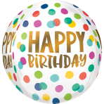 Orbz Happy Dots Foil Balloon G20 packaged