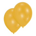 10 Latex Balloons Pearl Gold 27.5 cm/11''
