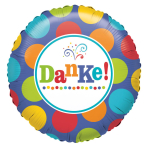 Standard Danke Foil Balloon S40 Packaged 43 cm