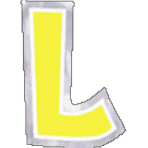 48 Stickers Letter L