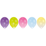 5 Latex Balloons LED assorted 27.5 cm / 11""