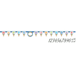 Pennant Banner Bright Birthday Personalizable Paper 320 x 25.4 cm