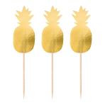 20 Picks Pineapple Vibes Wood 8 cm