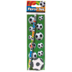 Favour Set Championship Soccer Paper / Rubber / Pencils 6 Pieces 18.9 x 5.9 cm