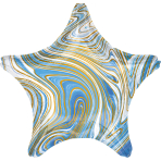 Standard Marblez Blue Star Foil Balloon S18 Packaged