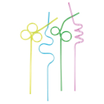 4 Spiral Drinking Straws Birthday Party