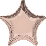 "Standard ""Rose Gold Decorator"" Foil Balloon Star, S15, bulk, 45cm"